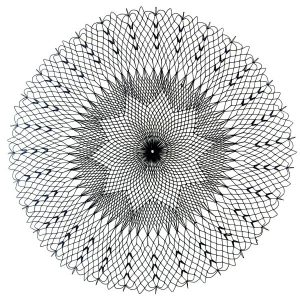 black doily Energized on white