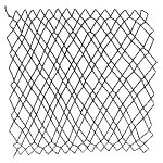 diamond netting - 1 loop, honey cone, or single diamond netting - a decorative netting stitch