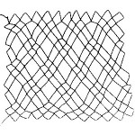 diamond netting 2 loop or double diamond netting - a decorative netting stitch
