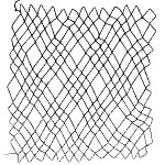 diamond netting 3 loop or treble diamond netting - a decorative netting stitch