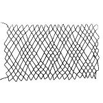 diamond netting 4 loop or Swiss netting - a decorative netting stitch