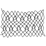 looped hexagon decorative netting stitch