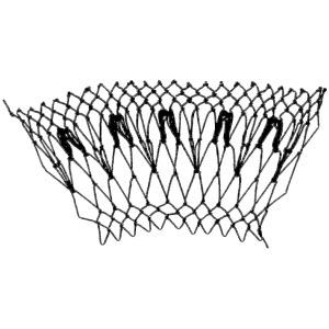 arrowhead decrease netting stitch