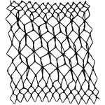 cube, English netting, or honeycomb decorative netting stitch