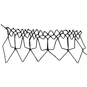 faces decrease netting stitch