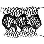 Fan Bobble Stitch - decorative Netting