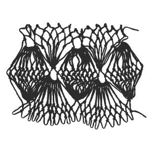 fan bobbles increase stitch