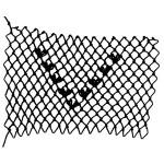 Heart Cluster Decorative Netting Stitch