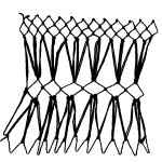 hourglass decorative netting stitch