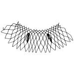 oval decorative netting stitch