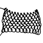 Round Netting - decorative netting stitch