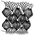 Shell Decorative Stitch - a three-dimensional netting stitch