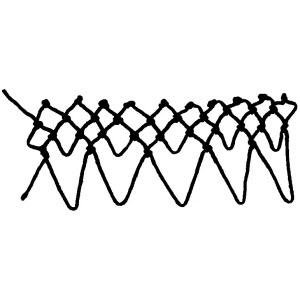 teardrop decrease netting stitch