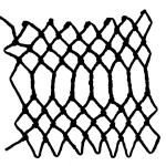 twisted decorative netting stitch