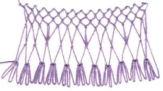 row 3 of Stilts Increase Stitch