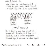 sketch of heart netting stitch