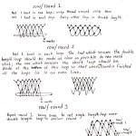 sketch of honeycone netting stitch