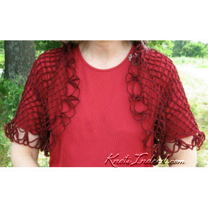 red net shrug - seen from the front