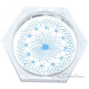 net insert placed inside an acrylic coaster