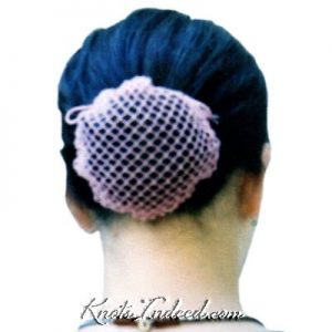 a net cover for a hair bun