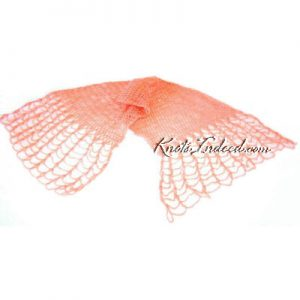 a plain net scarf or shawl with Rigging Edge