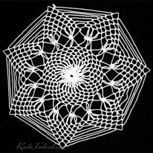 Spiderweb (large): a net doily