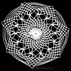 Spiderweb (small): a net doily