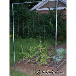 4 foot by 6 foot net trellis with 6-inch square meshes