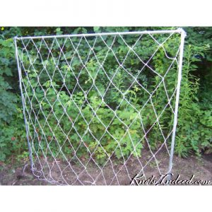 5 foot by 5 foot net trellis with 6-inch diamonds meshes