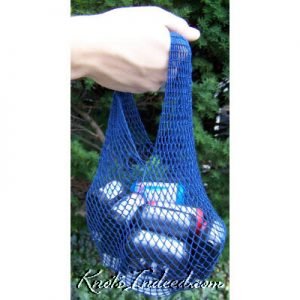 net bag with circle base and single handle