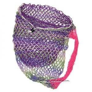 a net Klein Bottle Bag with a Circle Base and Small Mesh