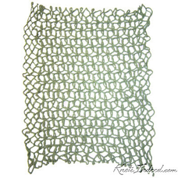a diamond-mesh net dishcloth