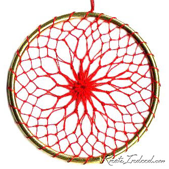 Net Suncatcher: Crossed - 3 inch