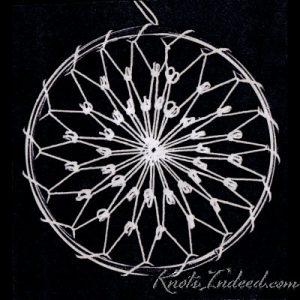 Net Suncatcher: French Knot - 3 inch