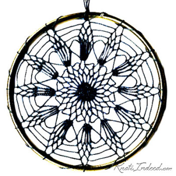 Net Suncatcher: Rose - 4 inch