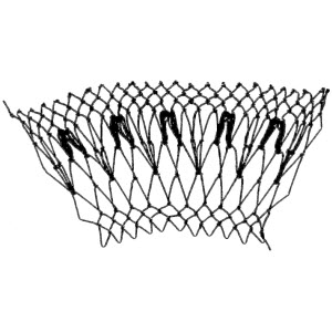 arrowhead decrease netting stitch