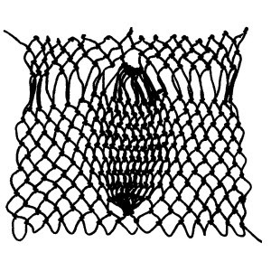 pinecone decrease netting stitch