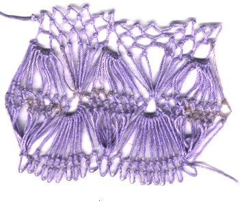 row 6 of Shell Increase Stitch