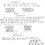 sketch of honeycone netting stitch