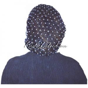 a net snood with beads