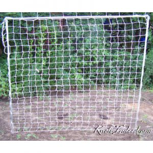 5 foot by 5 foot net trellis with 3-inch square meshes
