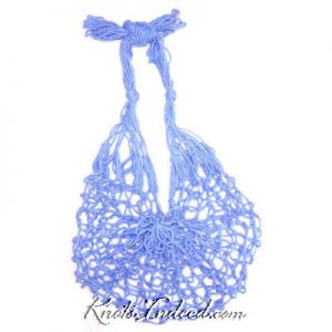 a square-mesh net bag