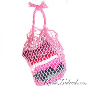 net bag with a pentagon base