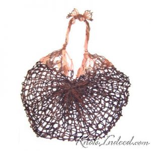 net bag made with square-mesh netting