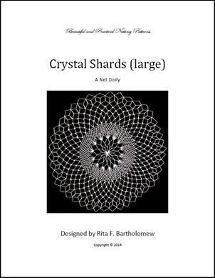 Crysstal Shards: a net doily
