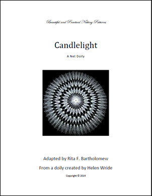 Candlelight: a net doily