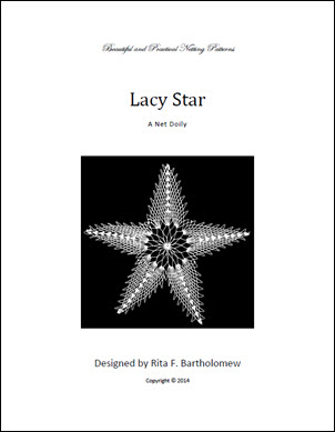 Lacy Star: a net doily
