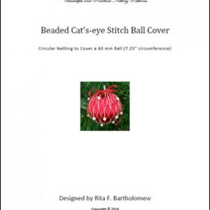 Cats-eye Stitch with beads ball cover