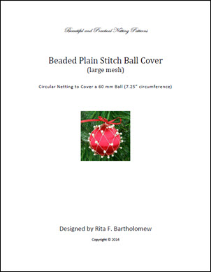 Plain Stitch - large mesh with beads ball cover