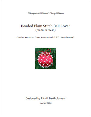 Plain Stitch - medium mesh with beads ball cover